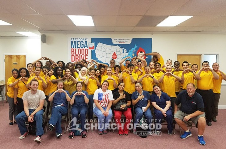 east coast mega blood drive 2016, world mission society church of god in boston
