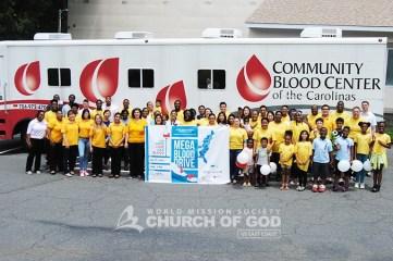 east coast mega blood drive 2016, world mission society church of god in charlotte