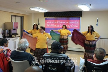 World Mission Society Church of God, WMSCOG, Brooklyn, Chateau Nursing Home, New York, NY, volunteers, residents, patients, seniors, music, dance