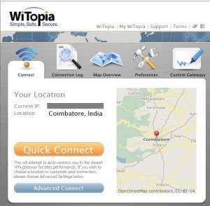 witopia screen
