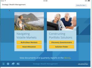 AssetMark iPad Home Screen