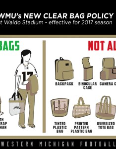 Wmu to implement clear bag policy at waldo stadium also western rh wmubroncos