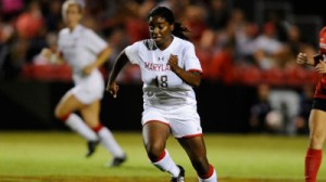 Natasha Ntone-Kouo helped push the Terps past Purdue on Thursday night. (Courtesy of UMTerps.com)