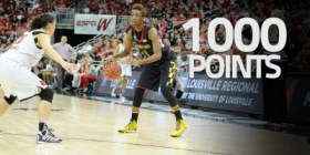 Laurin Mincy became the 29th Terp to cross the 1,000 career point threshold. (Courtesy of UMTerps.com)