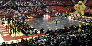 A crowd 2,779 filled the Xfinity Center to watch Maryland take on Penn State Thursday night. (Courtesy of UMTerps.com)