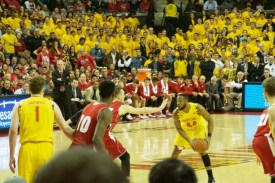 Dez Wells had 26 points in the Terps victory over Wisconsin. (Courtesy of Emily Olsen)