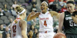 Lexie Brown notched a season-high 27 points in the Terps victory over Michigan State. (Courtesy of UMTerps.com)