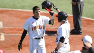 Freshman Kevin Smith knocked a huge two-run home run to tie the game for the Terps. (Courtesy of UMTerps.com)