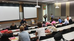 Leading the lecture