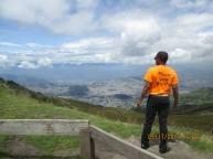 MSW Student Zachary Henderson surveys the view over Quito, Ecuador