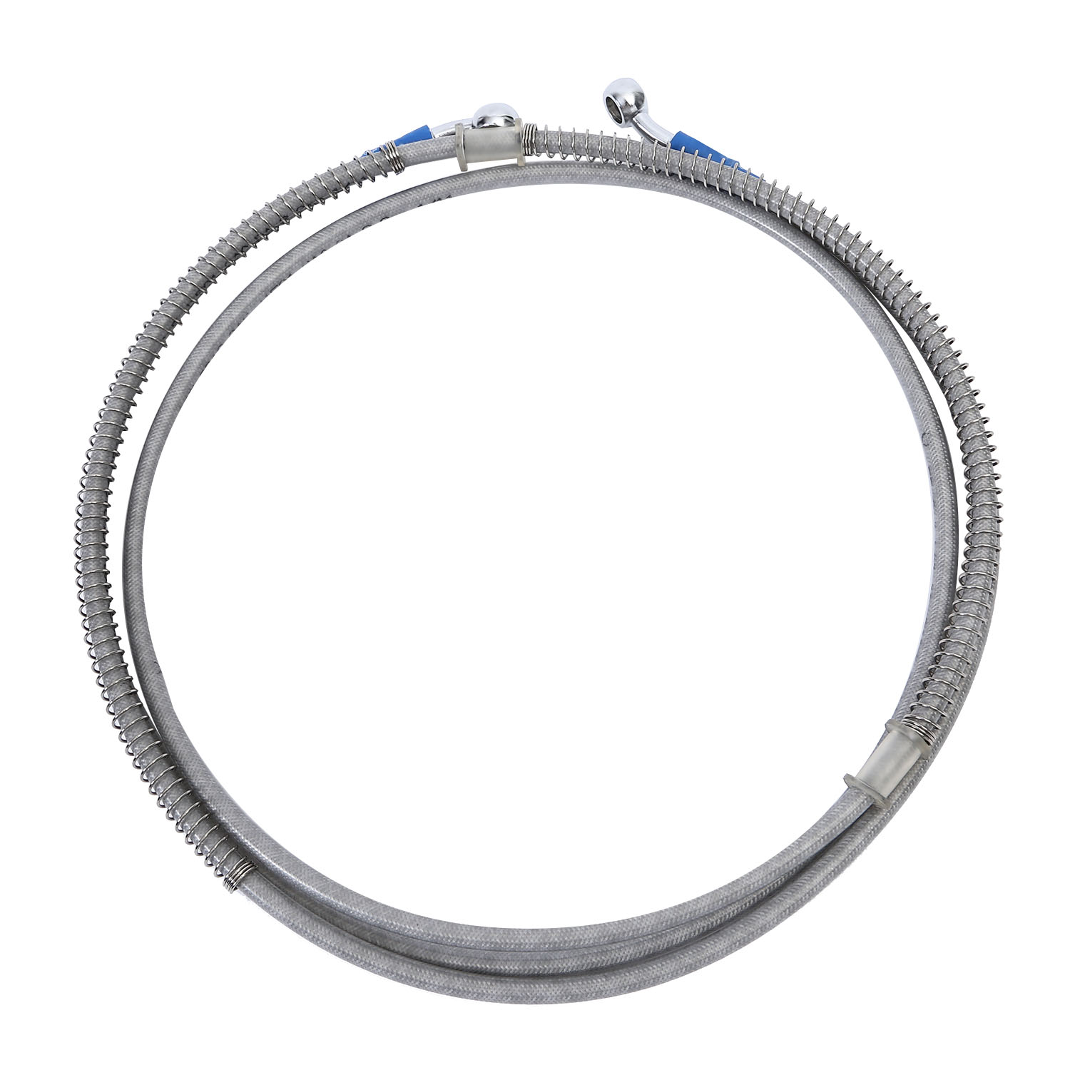 39cm 150cm Motorcycle Brake Oil Hose Line Banjo Fitting Stainless Steel Braided