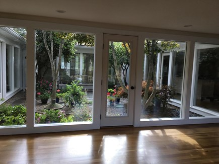 Chatham Cape Cod Vacation Rental Atrium With White Oak Flooring Throughout