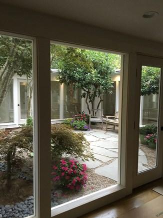 open kitchen island sears chatham cape cod vacation rental - peek of interior garden ...