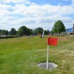Wenn der Fuß den Schläger ersetzt: Fußballgolf am Bostalsee