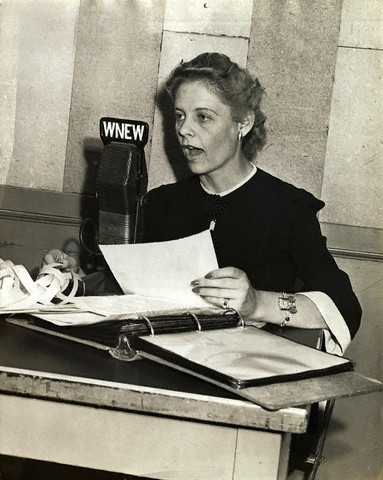 Alice Marble Broadcasting from WNEW