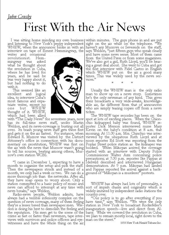 John Crosby 1959 column