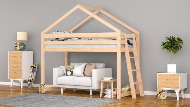 lit cabane mezzanine pour les enfants britta