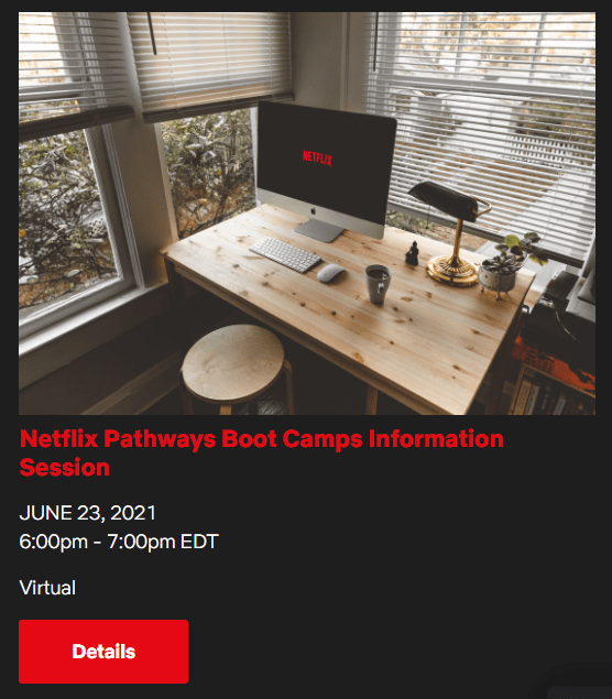 Netflix Info Session