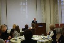 Judge Sven Erik Holmes welcomes WNSF Summit participants to KPMG