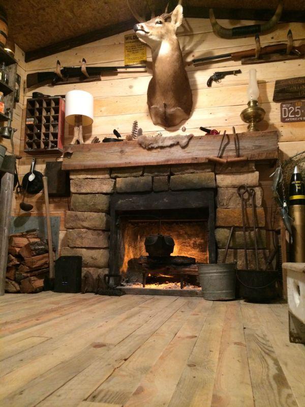 Rustic Cabin Man Cave Built In Basement
