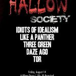 THE HALLOW SOCIETY WITH SPECIAL GUESTS COMING TO TONAWANDA FRIDAY 8.14.20!