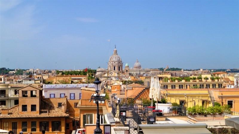 Blick auf Rom von der spanischen Treppe