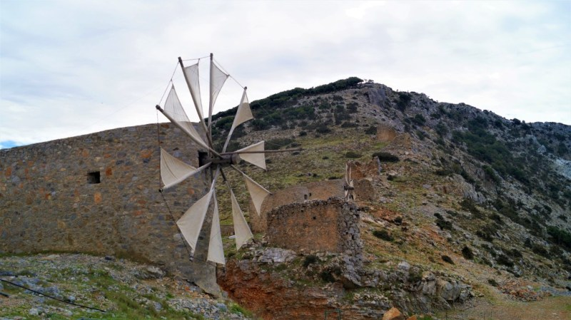 Windmühle am Lashiti Plateau