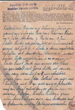Concentratiekamp brief Neuengamme wo2