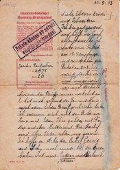 concentratiekamp brieven