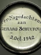 Ter nagedachtenis aan verzetsman Gerard Schuurman 1942