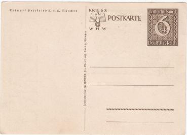 Kriegs whw postkarte Danzig is Deutsch