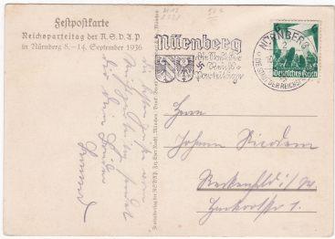 postkaart propaganda parteitag nsdap 1936