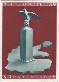 postkaart Reichsparteitag Nurnberg 1938