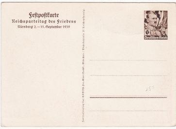 reichsparteitag postkarte 1939
