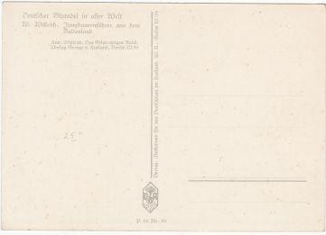 postkaart nazi duitsland bloedadel