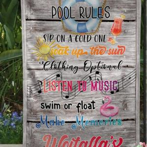 Custom Flag For Pool, Garden Flag, Outdoor decor, Clothing Is Optional, Wooden style, Thick Canvas - Woastuff