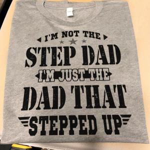 Father Gifts For Stepfathers T Shirt, Step Father Step Up, Men, Grey, Cotton - Woastuff
