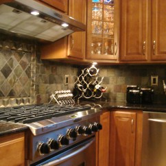 Kitchen Backsplash Photos Outdoor Modular Tumbled Slate