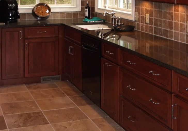 Kitchen Cabinets Before Tile Flooring