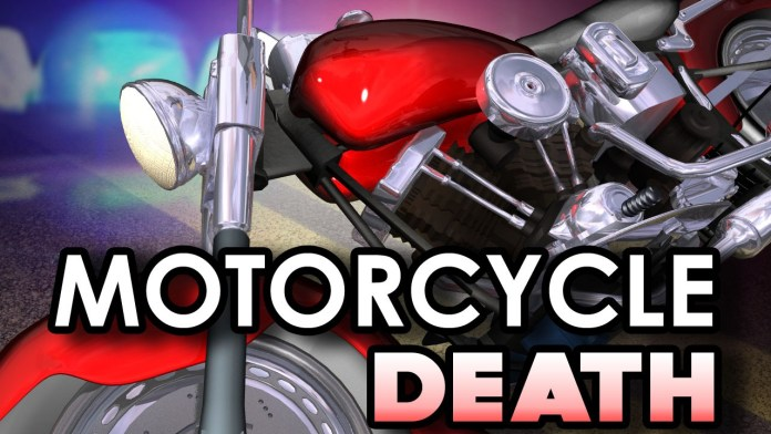 Motorcycle crash causing death