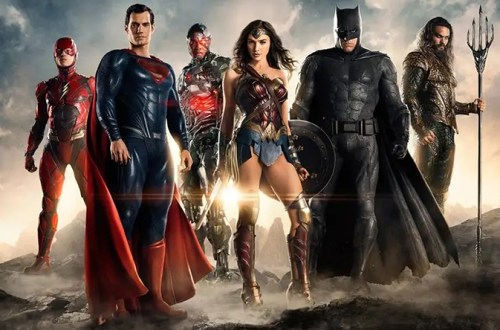 A Poster for the Theatrical Cut of Justice League