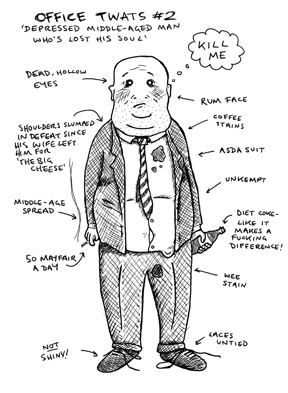 office worker cartoon