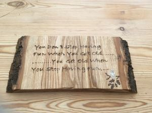 Inspirational plaque - pyrography on wood