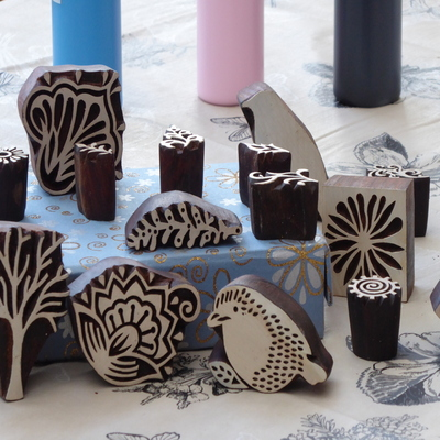 Learn a new skill using hand carved blocks. After a demonstration of the printing & design placement you will print a bag or a tea towel