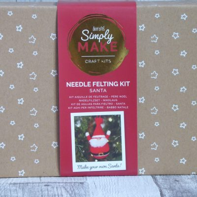 Picture of a festive SantaNeedle felting kit from Simply Make.