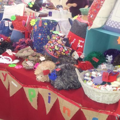 Crafting meeting at Wobbly Pins. Regular craft club meeting at Coalville, Leicestershire