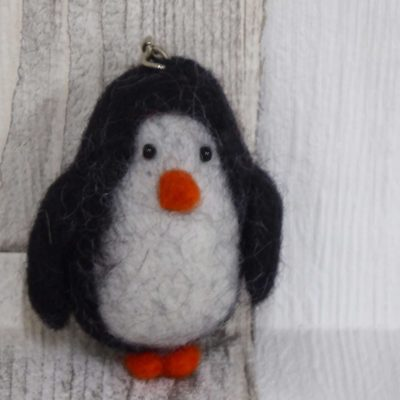Picture of a fairtrade wool penguin