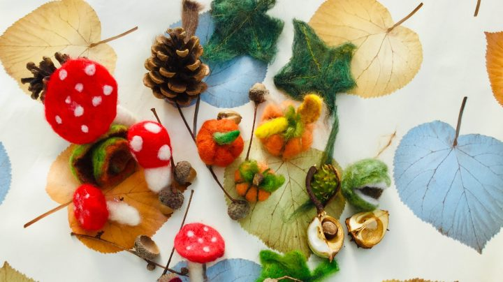 Picture from an autum wreath making workshop
