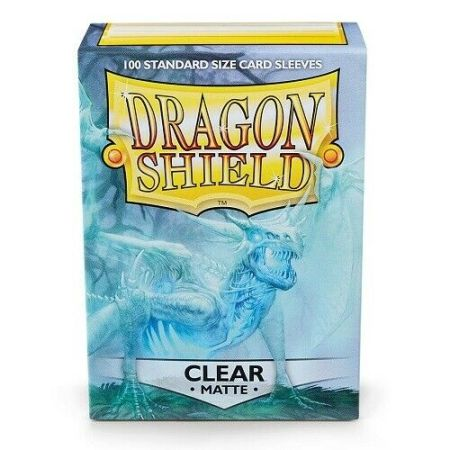 Box: Dragon Shield Standard Deck Protector Sleeves - Matte Clear - AT-11001 |香港桌遊天地Welcome On Board Game Club Hong Kong|卡牌遊戲保護套