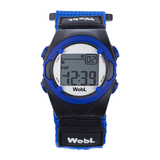 WobL alarm reminder watch, blue